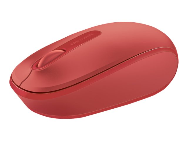 Image of Microsoft Wireless Mobile Mouse 1850 - mouse - 2.4 GHz - flame red