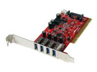 Startech Cartes PCIUSB3S4