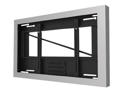 "Peerless-AV Wall Kiosk Enclosure KIL655-S - Mounting kit (equipment enclosure) for LCD / plasma panel - lockable - silver powder coat - screen size: 55"" - wall-mountable"