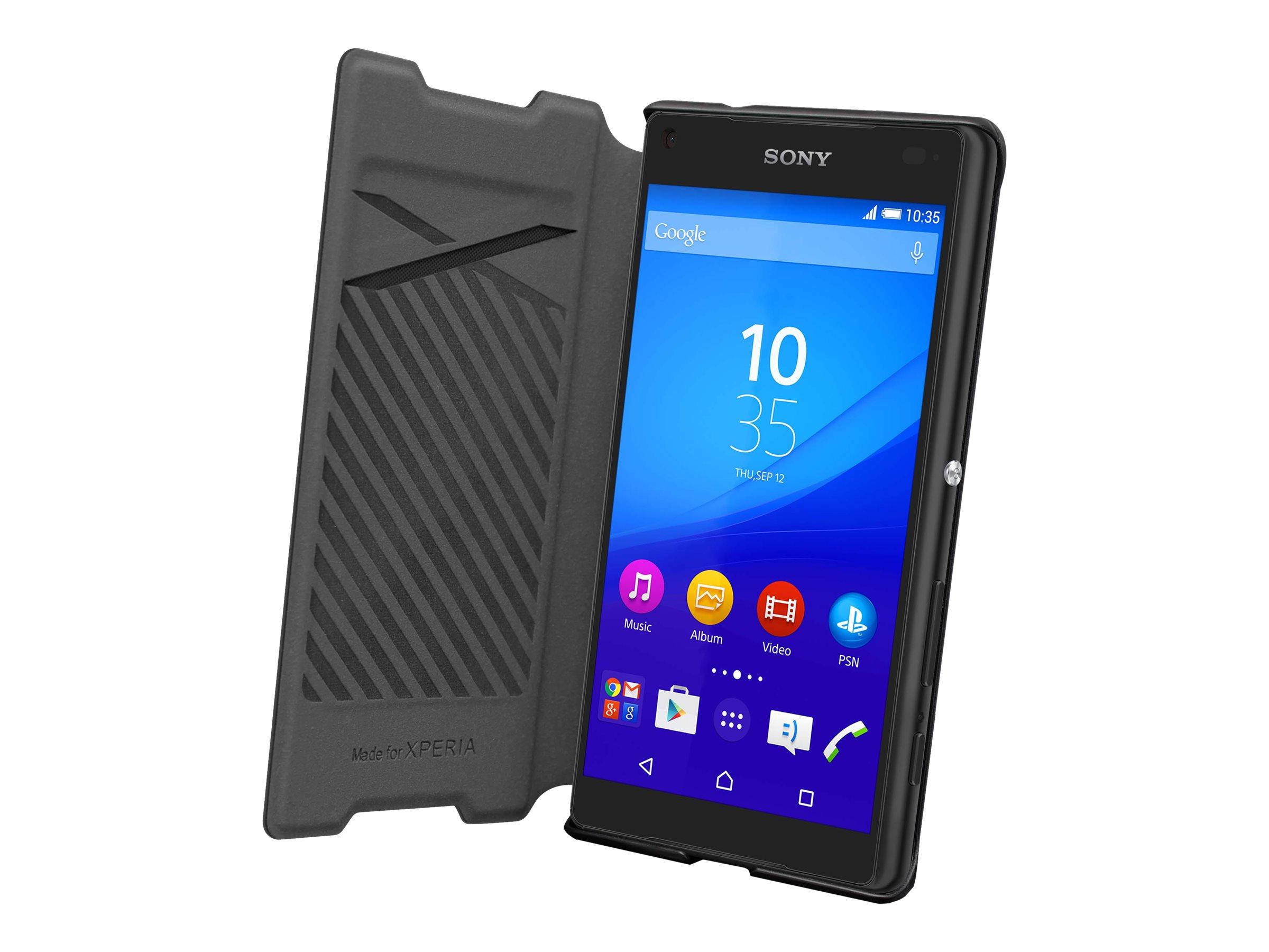 Muvit MFX easy folio - Protection à rabat pour Sony XPERIA Z5 Compact, Z5 Premium -noir