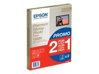 Epson Premium Glossy Photo Paper BOGOF - papier photo brillant - 15 feuille(s)