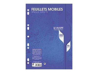 Calligraphe 7000 - 100 Feuillets mobiles - A4 - 100 feuilles - blanc- petits carreaux - perforé