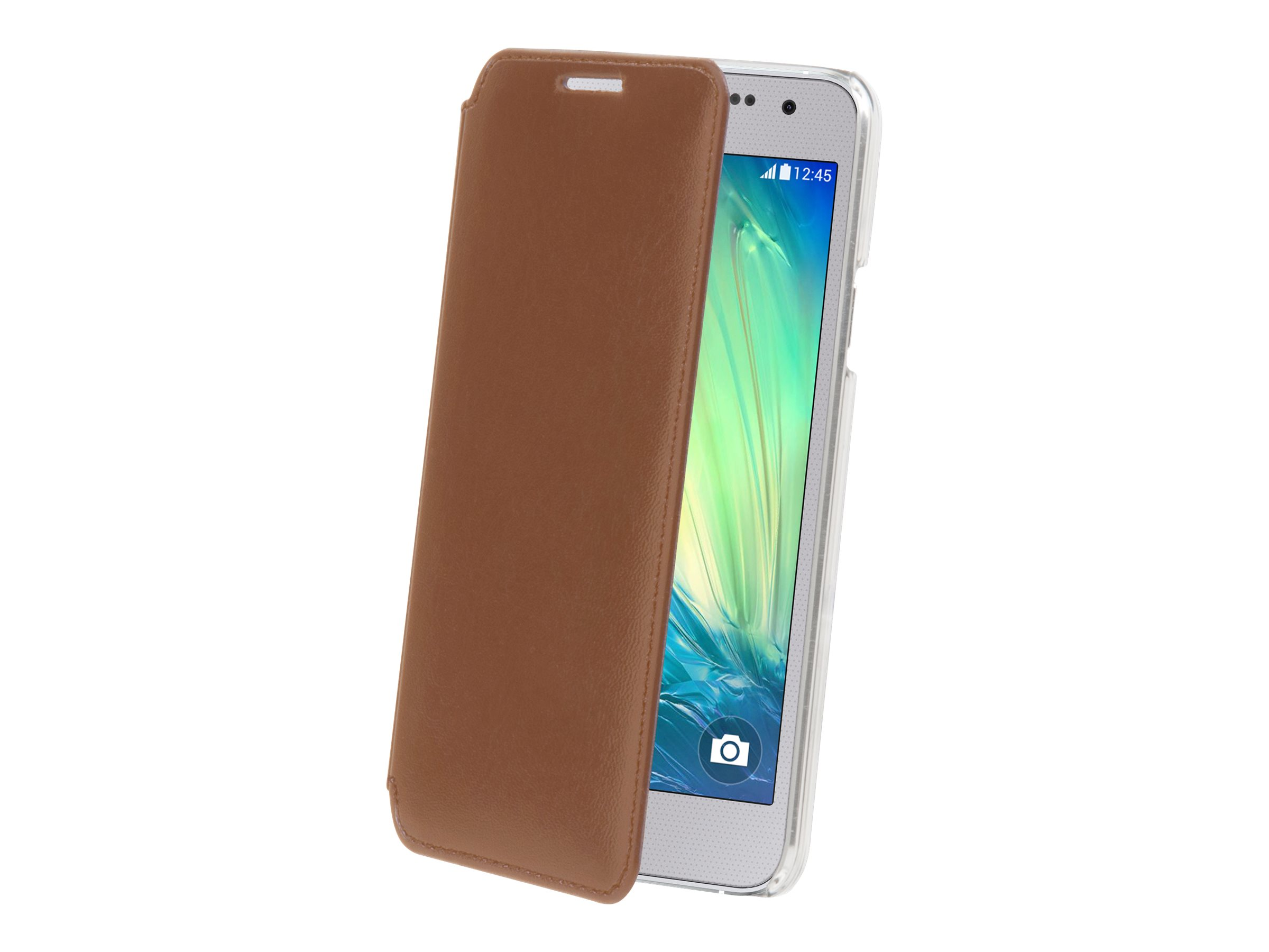 Muvit Made in Paris Crystal Folio - Protection à rabat pour Samsung Galaxy A3 - brun
