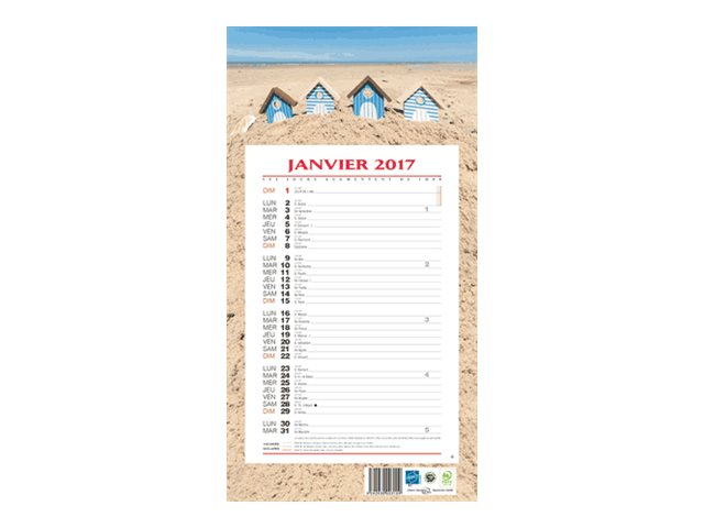 CBG 409 Ambiance - Calendrier - 2017 - 12 feuilles - 190 x 360 mm