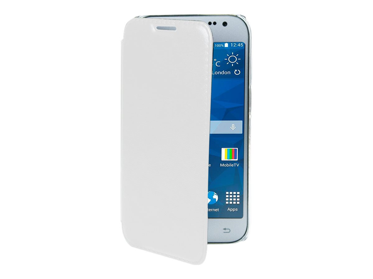 Muvit Made in Paris Crystal Folio - Protection à rabat pour Samsung Galaxy Core Prime - blanc