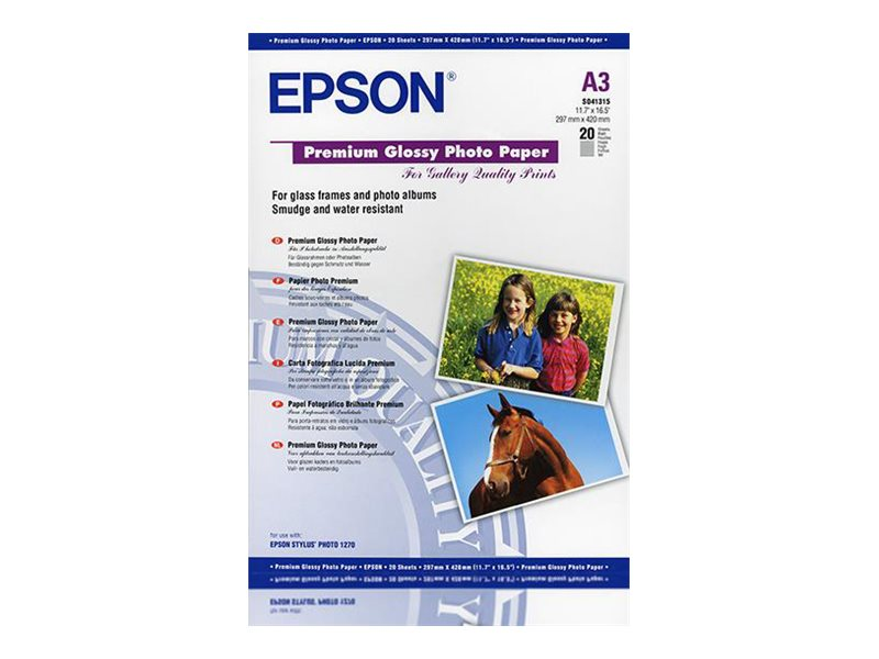 Epson Premium - papier photo brillant - 20 feuille(s)