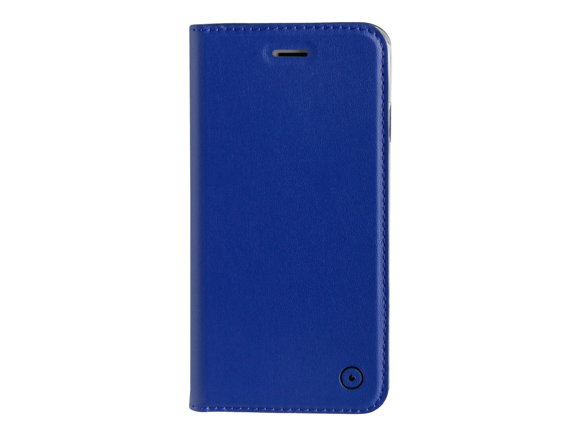 Muvit Folio Stand - Protection à rabat pour iPhone 7 - bleu