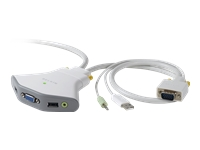 Belkin 2-Port KVM Switch with Audio Support and Built-In Cabling