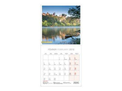 CBG Douce France - Calendrier illustré - 2017 - mois par page - 150 x 300 mm