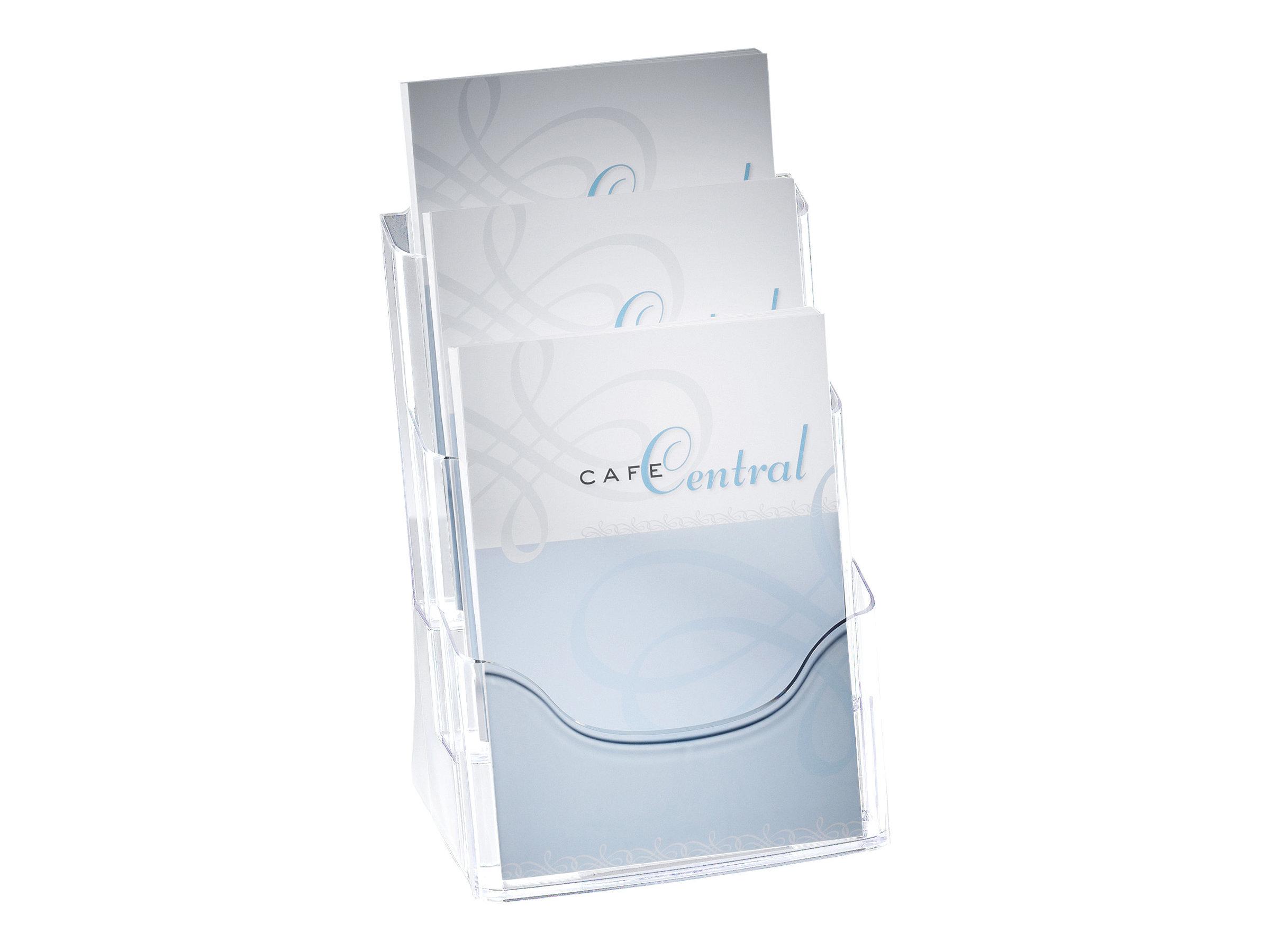 Sigel - Présentoir de bureau - 3 pochettes - pour A4 - clair