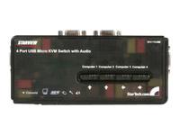 Startech switch KVM SV411KUSB