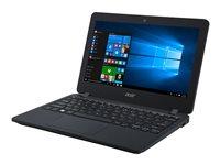 "Acer TravelMate B117-MP-C2G3 - Celeron N3060 / 1.6 GHz - Win 10 Pro 64-bit - 4 GB RAM - 32 GB eMMC - 11.6"" touchscreen 1366 x 768 (HD) - HD Graphics 400 - Wi-Fi, Bluetooth - black - kbd: US International"