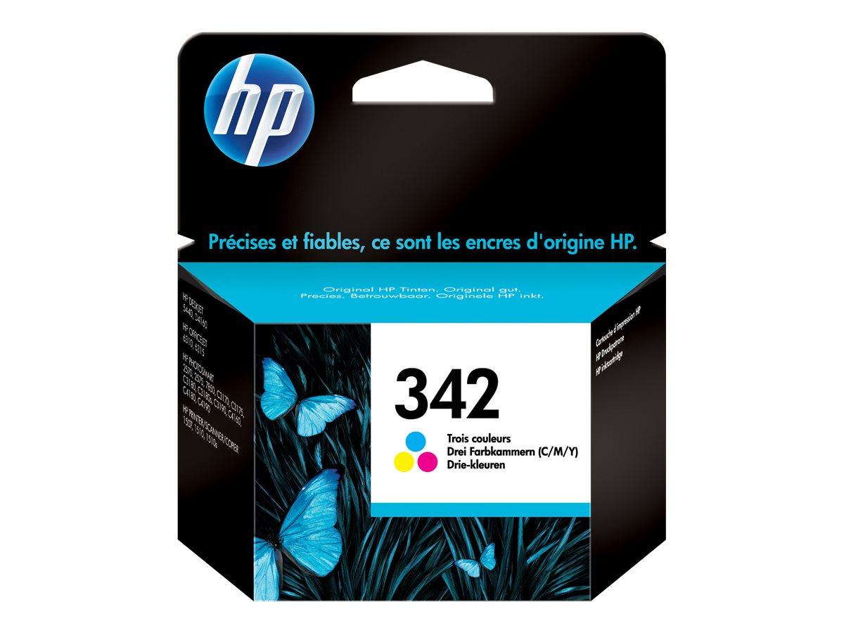 HP 342 - couleur (cyan, magenta, jaune) - originale - cartouche d'encre