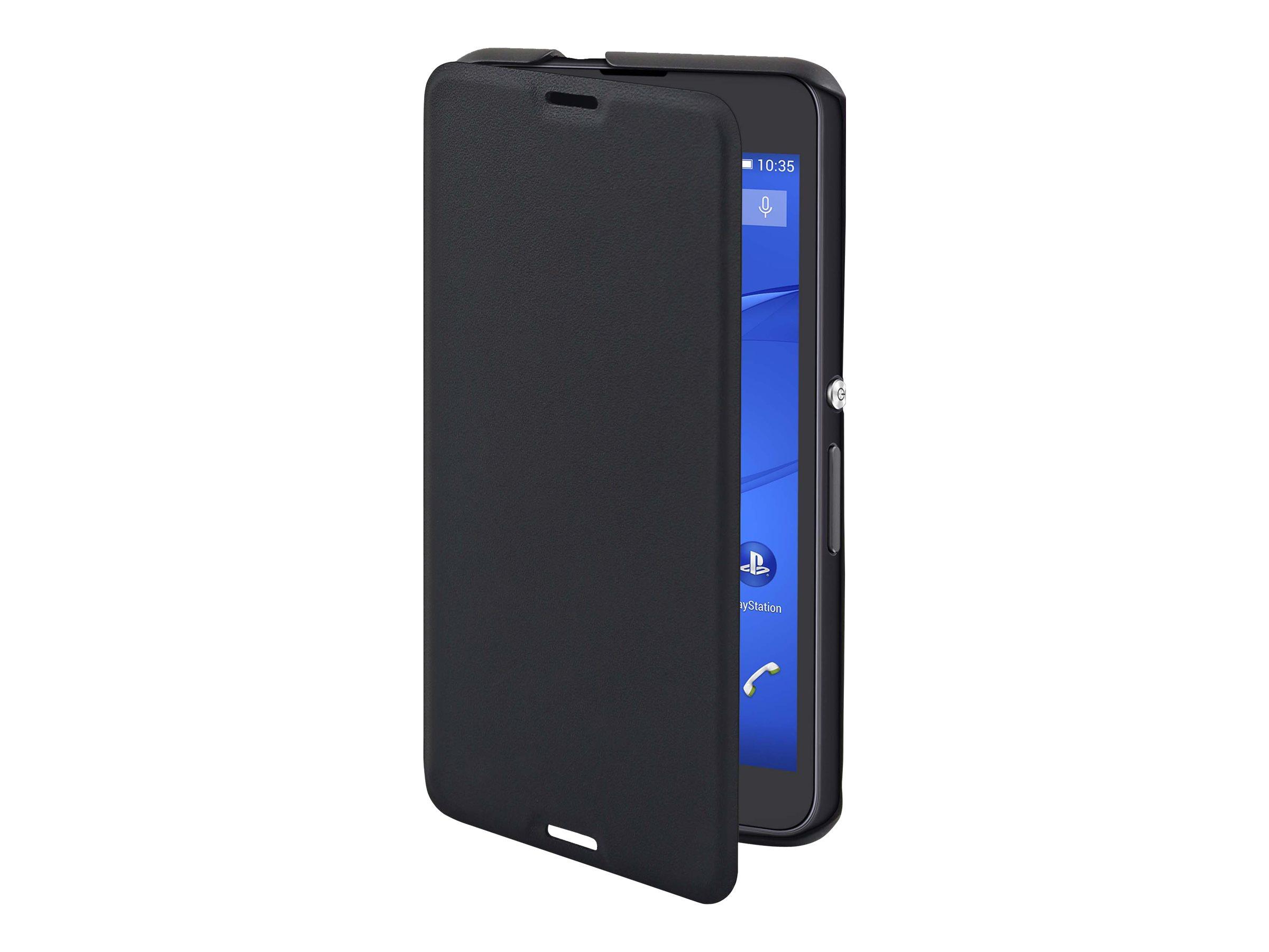 Muvit MFX easy folio - Protection à rabat pour Sony XPERIA E4g -noir