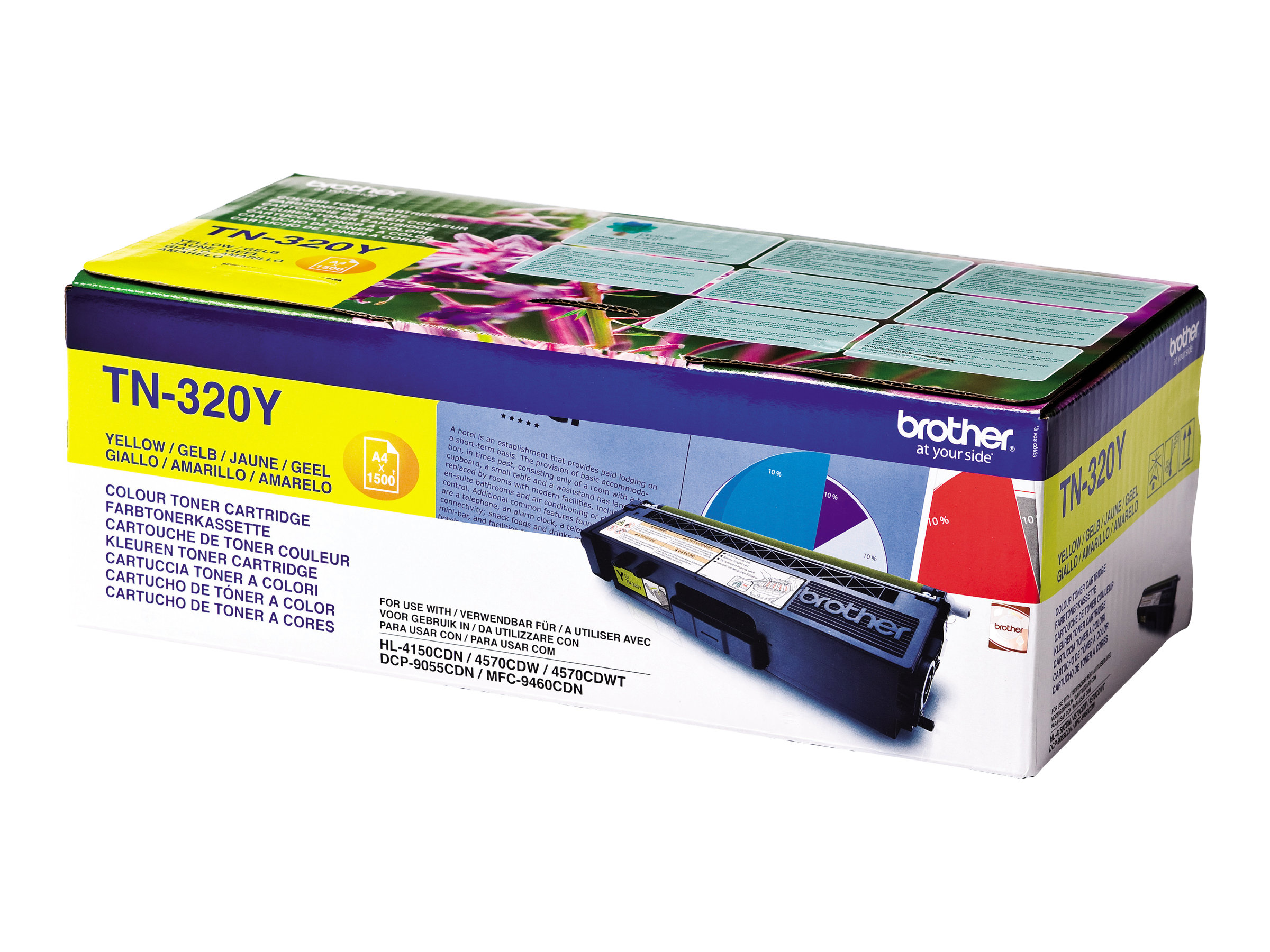 Brother TN320Y - jaune - original - cartouche de toner