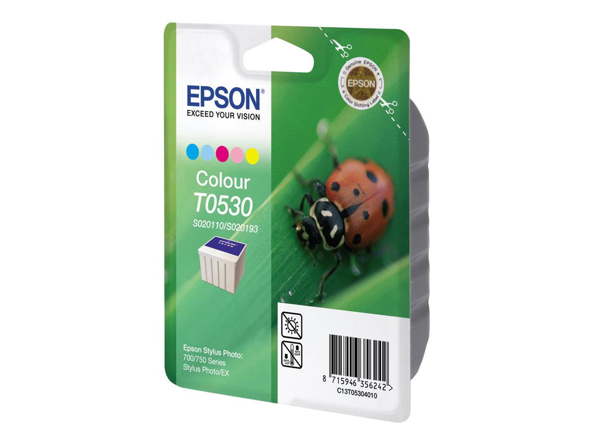 Epson T053 - couleur (cyan, magenta, jaune, cyan clair, magenta clair) - originale - cartouche d'encre