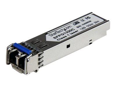 startech.com 1.25 gbps gigabit 1310nm gbic sm lc fiber sfp transceiver