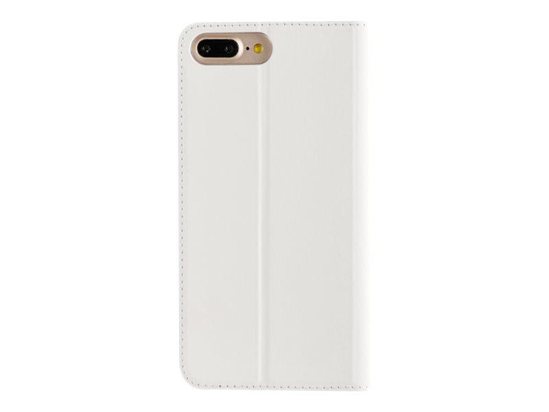 Muvit - Protection à rabat pour iPhone 7 Plus - blanc