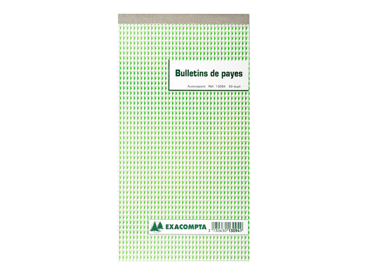 Exacompta - Manifold - Bulletin de paie - 50 feuilles - en double