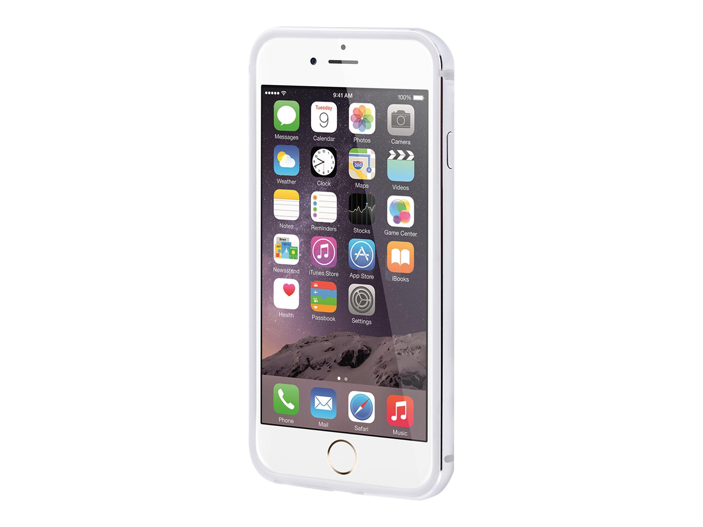 Muvit - coque pare-chocs pour iPhone 6, 6s - argenté