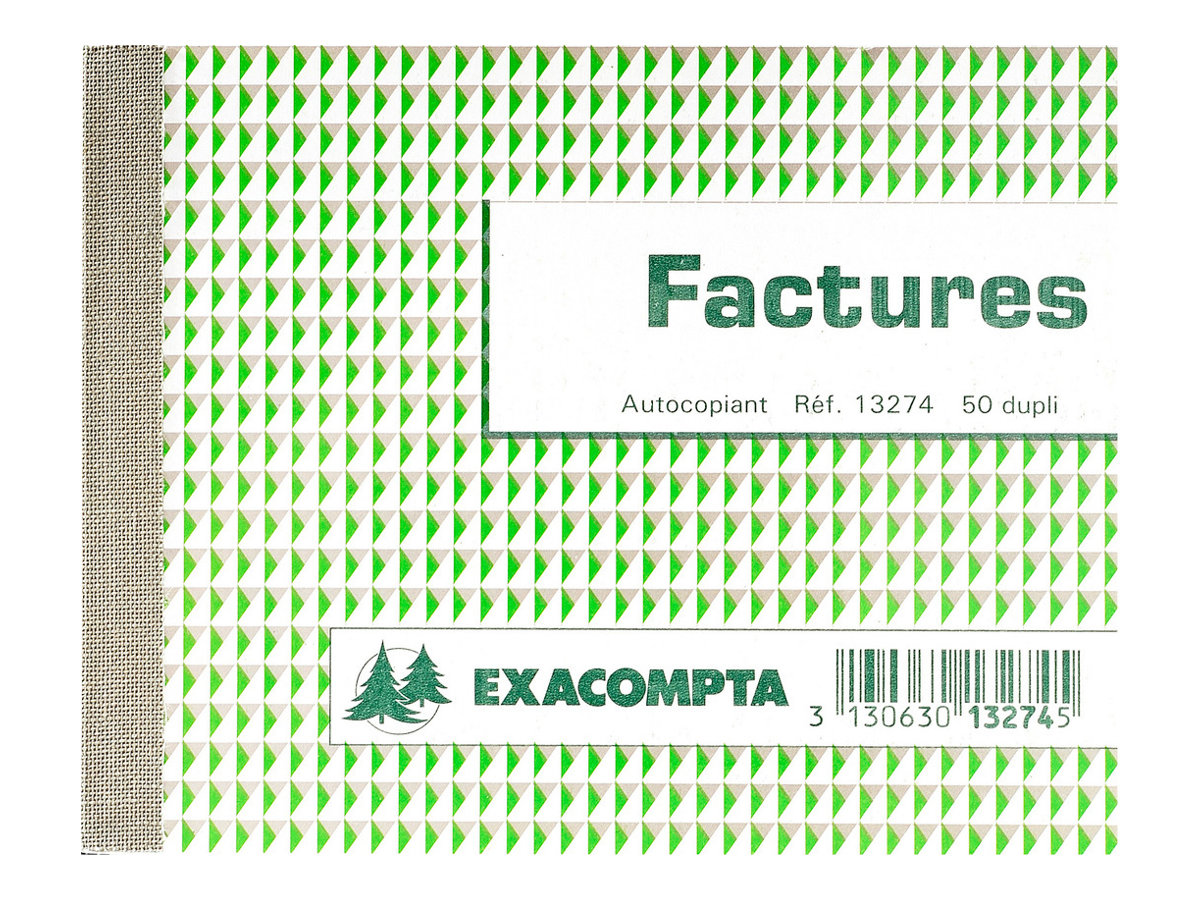 Exacompta - Manifold de factures - 105 x 135 mm - en double