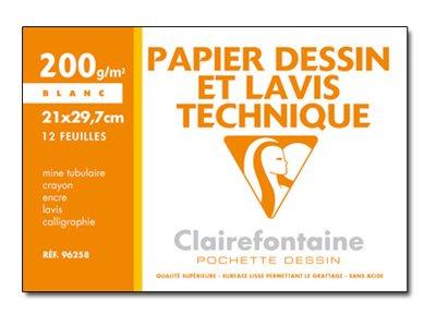 Clairefontaine Dessin et lavis technique - papier à dessin