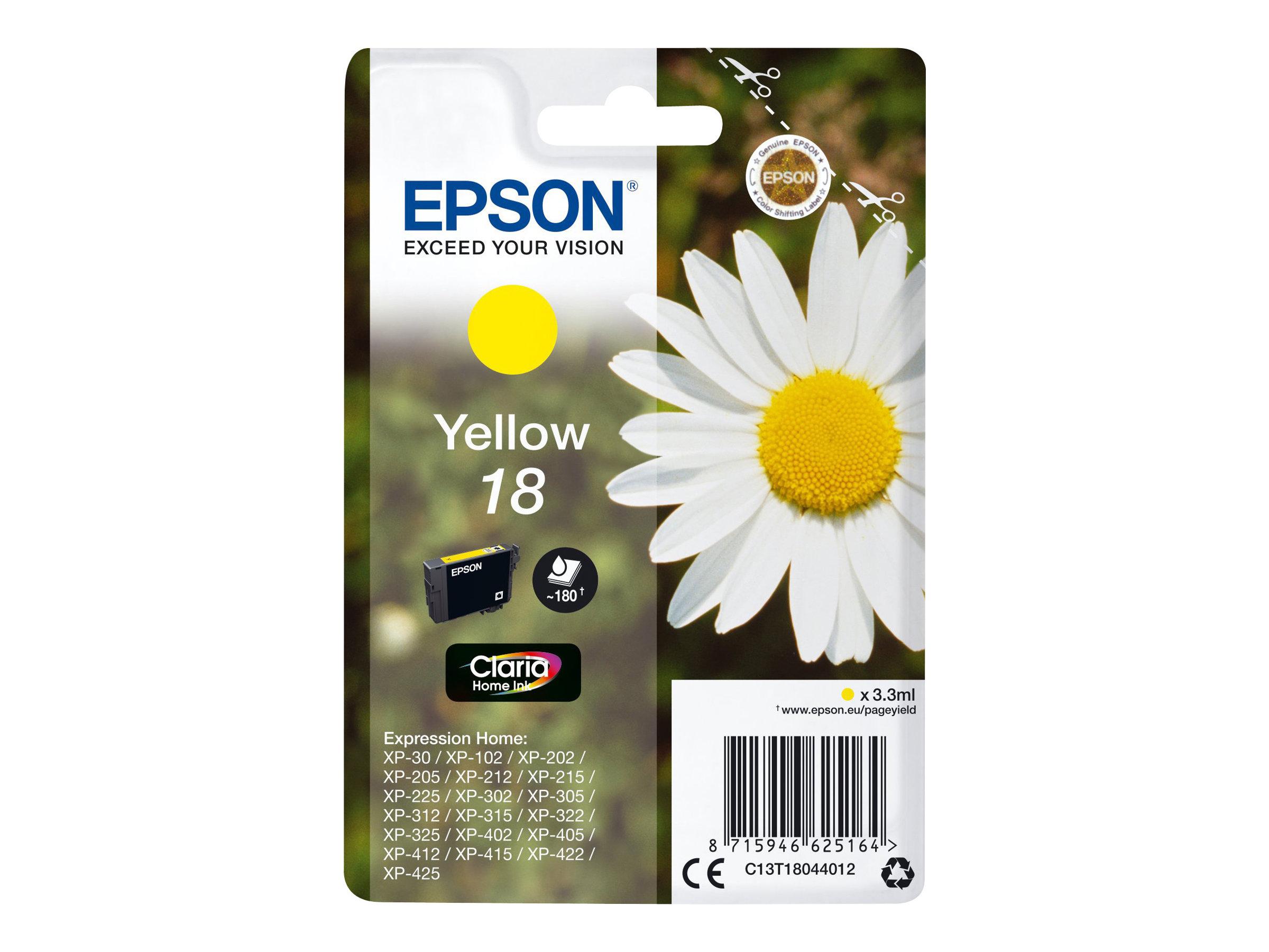 Epson T1804 - pâquerette - jaune - originale - cartouche d'encre