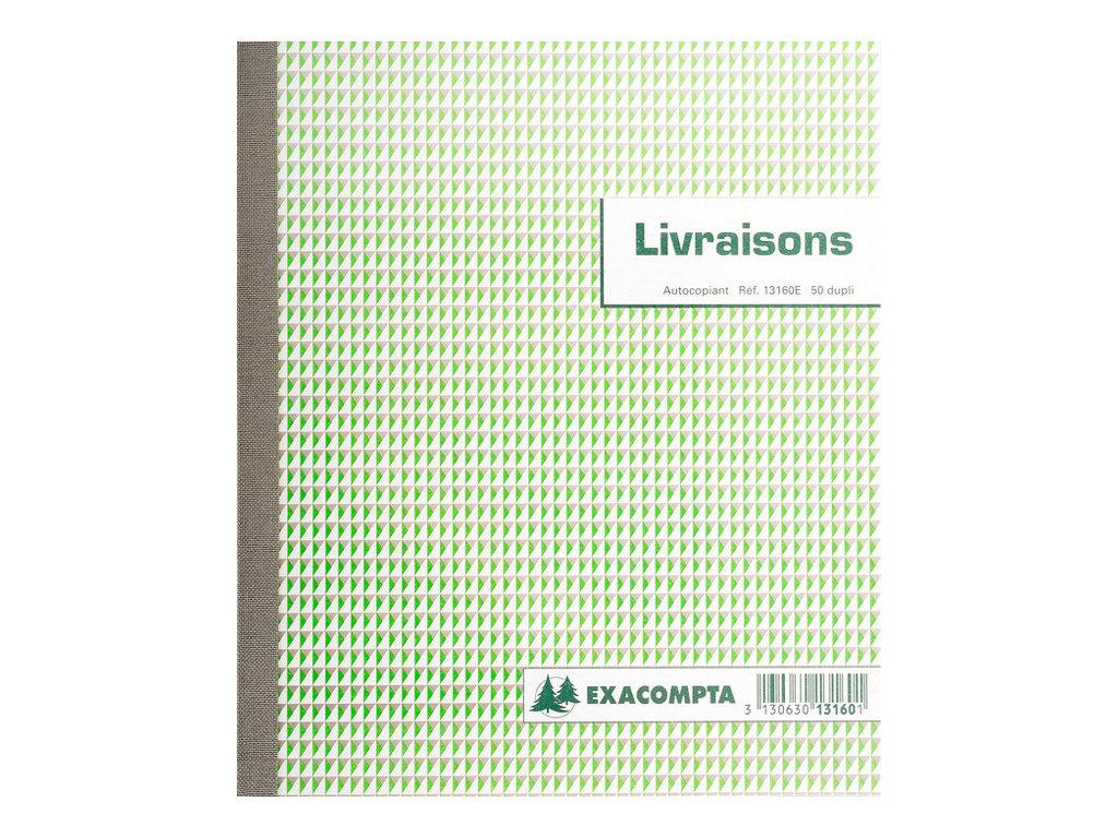 Exacompta - Manifold de livraisons dupli - 50 feuilles - 180 x 210 mm - en double - à l'unité ou en lot