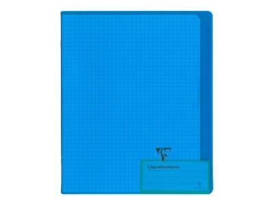 Clairefontaine Koverbook A5+ - Cahier - 17 x 22 cm - 96 pages - petits carreaux - transparent, disponible dans différentes couleurs