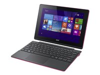 "Acer Aspire Switch 10 E SW3-016-1275 - Tablet - with keyboard dock - Atom x5 Z8300 / 1.44 GHz - Win 10 Home 64-bit - 2 GB RAM - 64 GB eMMC - 10.1"" IPS touchscreen 1280 x 800 - HD Graphics - black, pink"