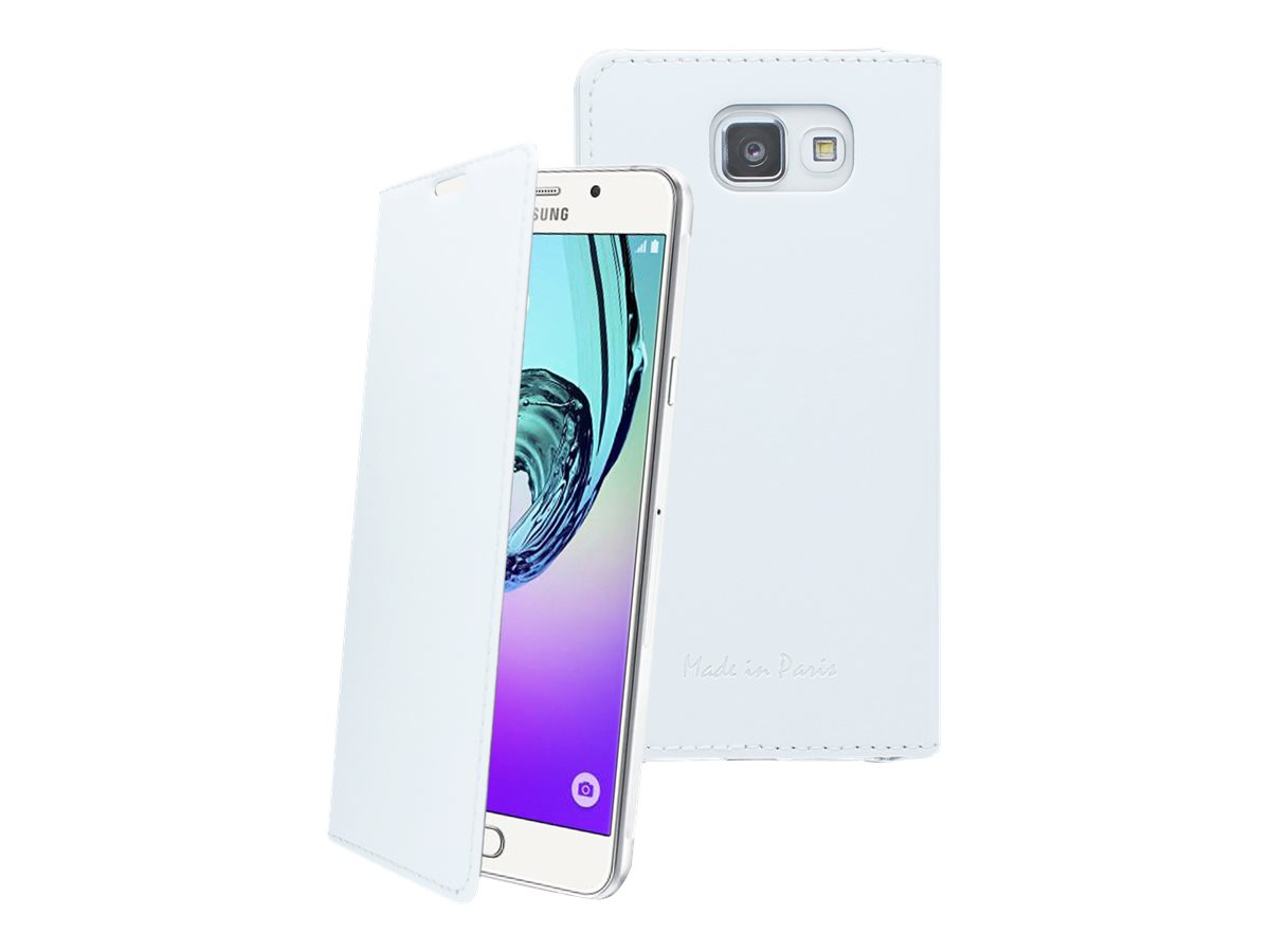 Muvit Made in Paris Crystal Folio Luxe - Protection à rabat pour Samsung Galaxy A5 - blanc