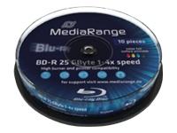 MediaRange Inkjet Fullsurface-Printable - 10 x BD-R MR496