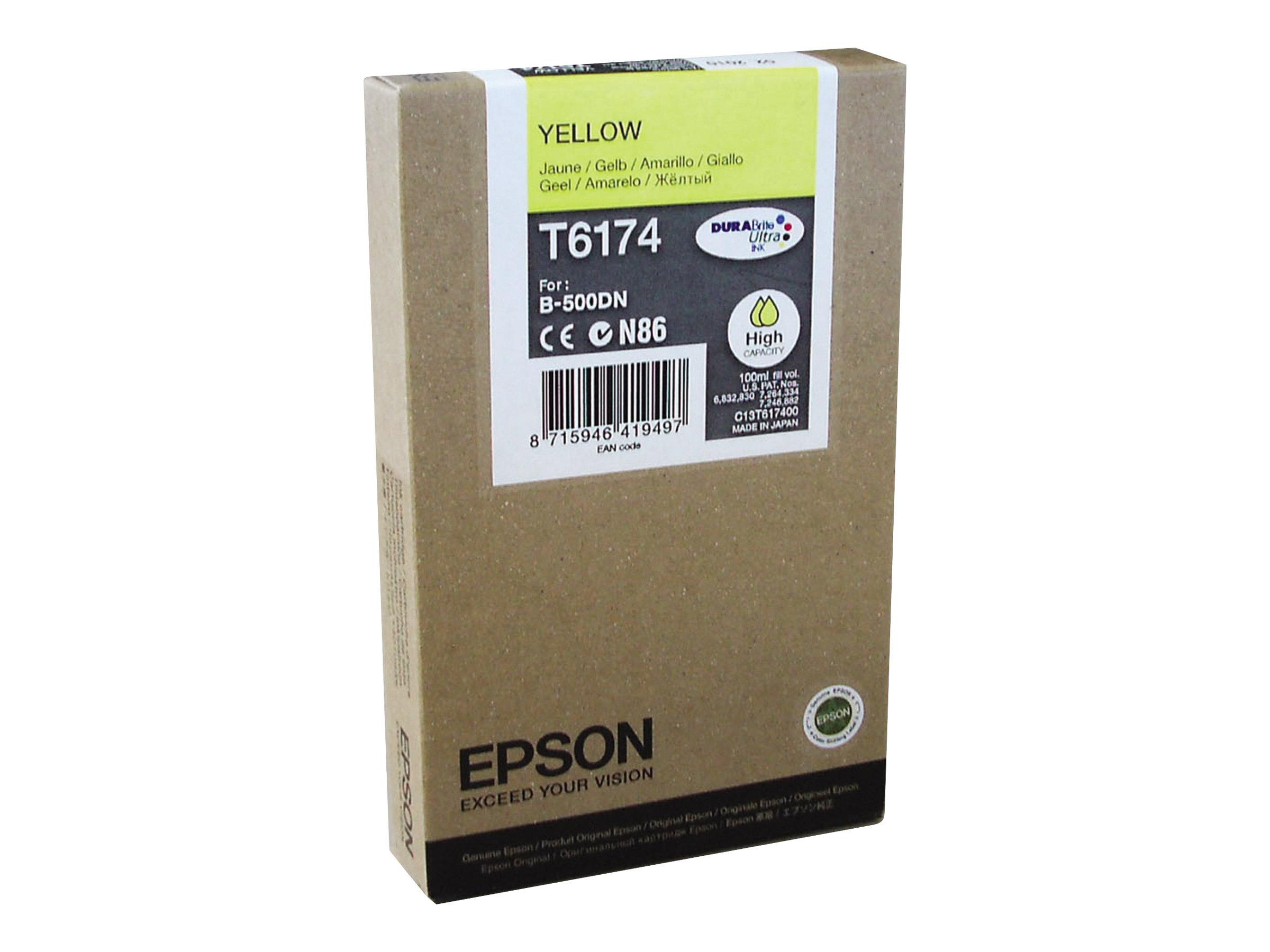 Epson T6174 - haute capacité - jaune - originale - cartouche d'encre