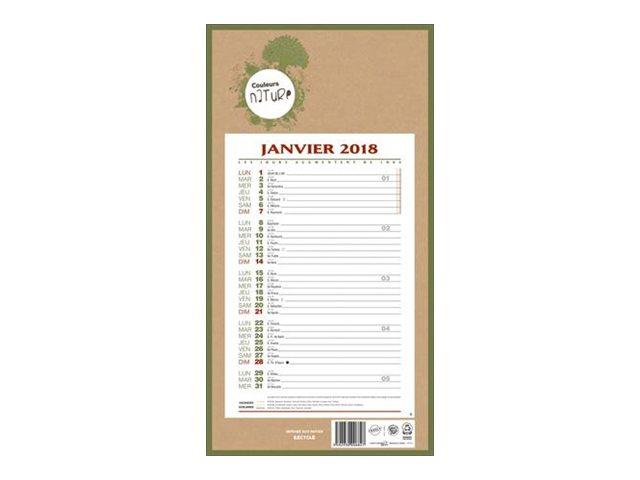 CBG 409 Natura - calendrier de bloc mensuel