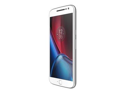 "Motorola Moto G plus 4G (4th Gen.) - Smartphone - 4G LTE - 64 GB - microSDXC slot - CDMA / GSM - 5.5"" - 1920 x 1080 pixels (401 ppi) - RAM 4 GB - 16 MP (5 MP front camera) - Android - white"
