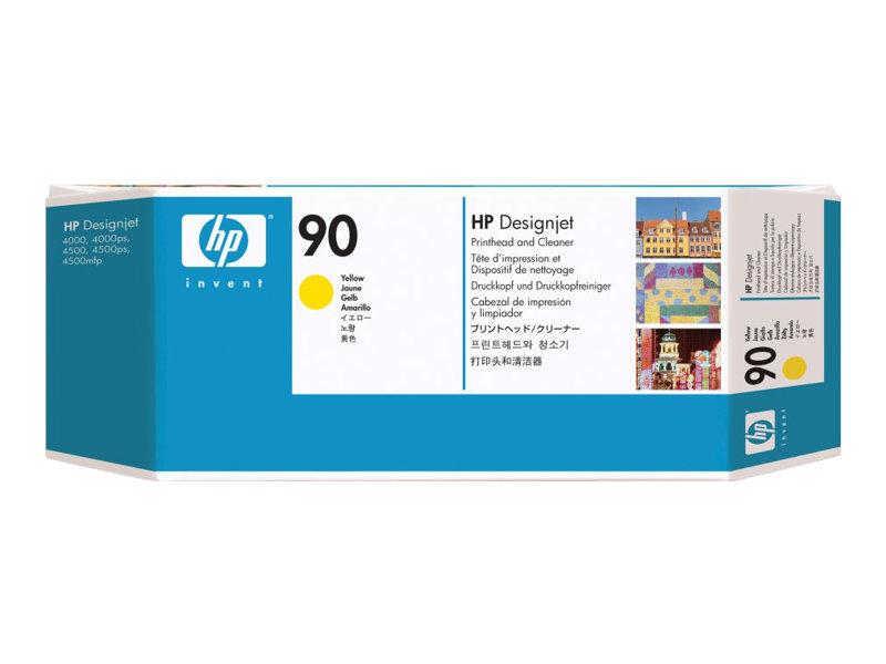 HP 90 - jaune - tête d'impression avec nettoyeur