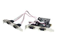 StarTech.com Carte PCI Express avec 4 Ports DB-9 RS232 - Adaptateur PCIe Serie - UART 16550
