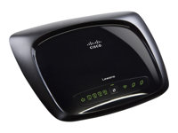 Image of Linksys WAG320N - wireless router - DSL modem - 802.11b/g/n (draft 2.0) - desktop
