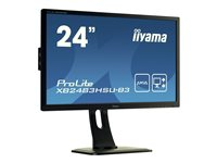 iiyama ProLite XB2483HSU-B3 24 Inch AMVA, Full HD, Black, HDMI, Display Port USB Hub, H-A
