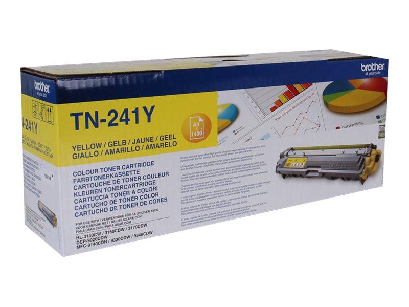 Brother TN241Y - jaune - originale - cartouche de toner