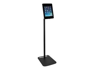 Tryten - Stand for tablet - lockable - acrylic, powder-coated steel, high-grade steel - black - for Apple iPad (3rd generation); iPad 1; 2; iPad Air; iPad Air 2; iPad with Retina display