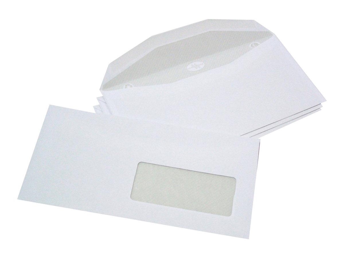 La Couronne Patte Trapèze Multimachines Facile - Enveloppe - 114 x 229 mm - 1 fenêtre -  pack de 1000