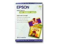 Epson Photo Quality - Self-adhesive - A4 (8.25 in x 11.7 in) - 167 g/m² - 10 pcs. sheets - for Expression Home XP-342, 442; Expression Premium XP-900; SureColor P800; WorkForce ET-16500
