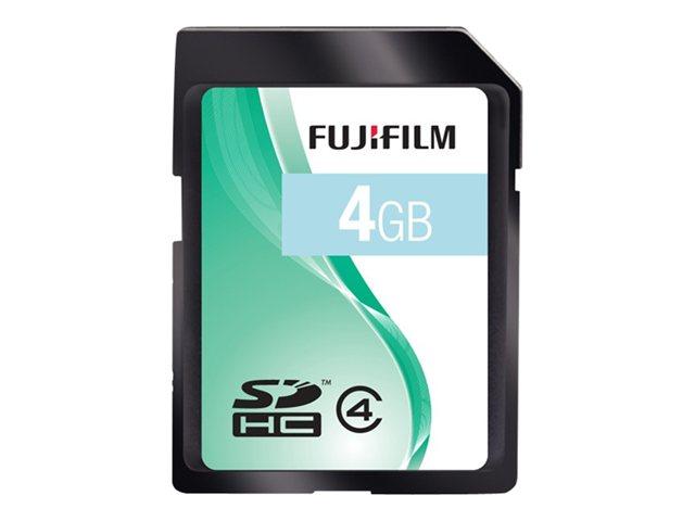 FUJIFILM   flash memory card   4 GB   SDHC