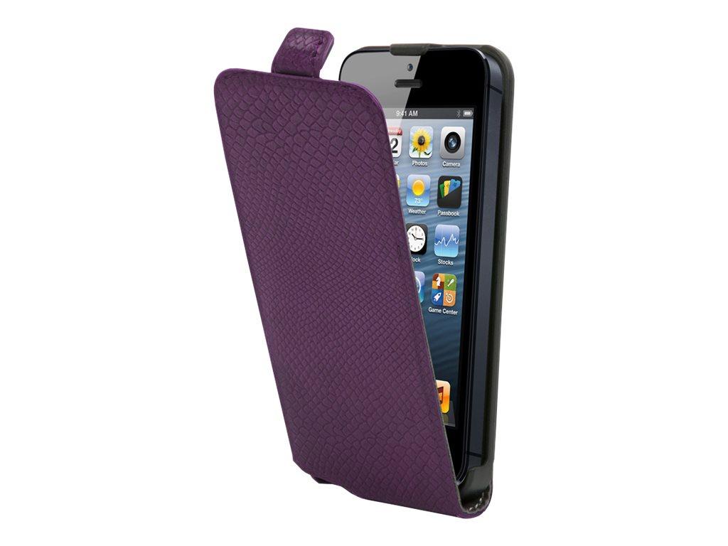 Muvit Made in Paris python slim - Protection à rabat pour iPhone 5, 5s - violet