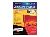 Fellowes Laminating Pouches SuperQuick Capture 125 micron 125 micron