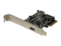 StarTech.com Carte contrôleur PCI Express à 2 ports USB 3.1 (10 Gb/s) - 1 externe 1 interne - USB-A - adaptateur USB
