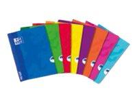Oxford School OpenFlex - Cahier agrafé - 17 x 22 cm - 140 pages - grands carreaux - disponible dans différentes couleurs