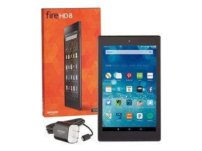 """Amazon Kindle Fire HD 8 - Tablet - 16 GB - 8"""" IPS (1280 x 800) - microSD slot - black - with Special Offers"""