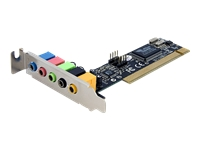 StarTech.com 5 Channel Low Profile PCI Sound Adapter Card  24 Bits